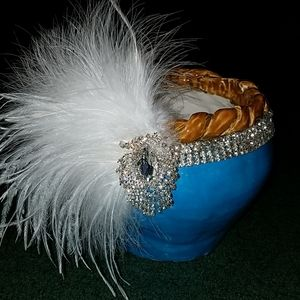 Stunning Feather Headpiece Gatsby Flapper Wedding